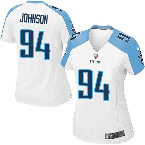 Womens Nike Tennessee Titans 94 Austin Johnson Limited White NFL Jersey