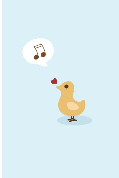 Singing Bird Vector Image #kids #vectorimage #baby #character #bird http://www.vectorvice.com/kids-baby-vector