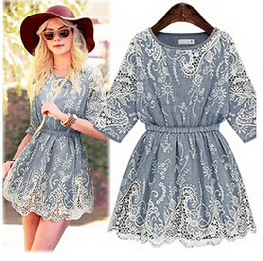 denim and lace - 25 USD