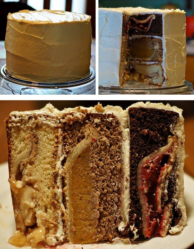 The Cherpumple   Community Post: 9 Glorious Pie-Cakes To Make For Thanksgiving