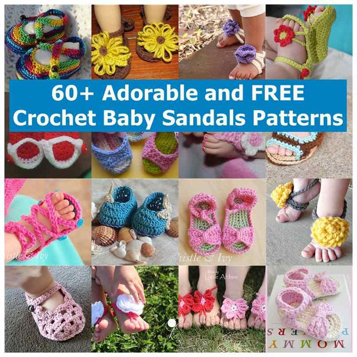 Crochet Baby Toe Sandals Free Pattern : 60+ Adorable and FREE Crochet Baby Sandals Patterns Baby ...