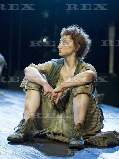 Our Country's Good' Play by Timberlake Wertenbaker performed in the Olivier Theatre at the Royal National Theatre, London, Britain - 25 Aug 2015  Jodie McNee as Liz Morden 25 Aug 2015