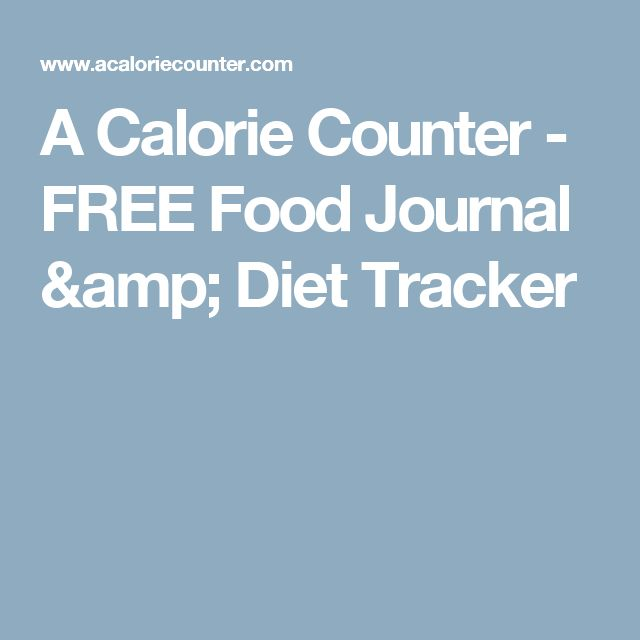 A Calorie Counter - FREE Food Journal & Diet Tracker