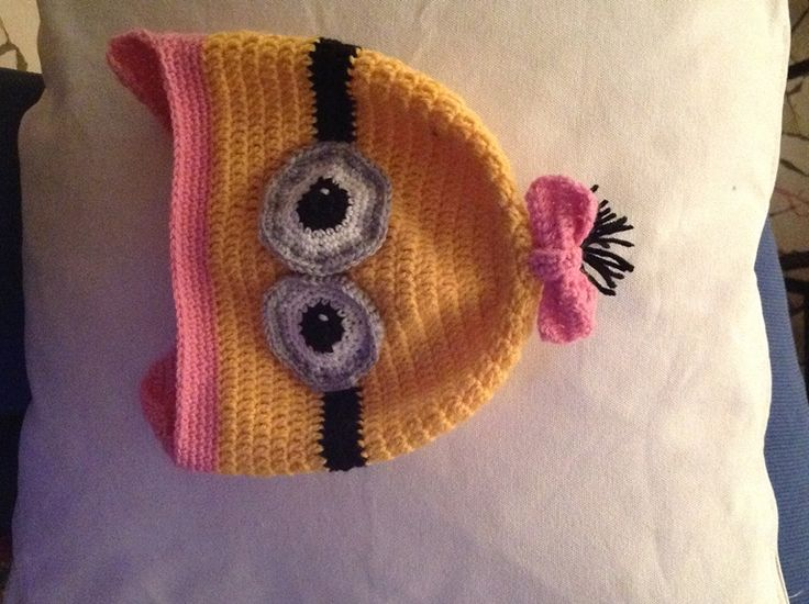 crochet Minions cap for girls tutorial Cappelo dei Minions all'uncinetto