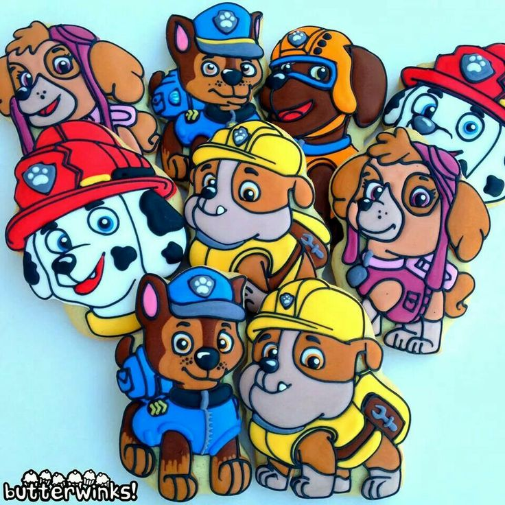 Paw Patrol puppies by Butterwinks Bakery........
