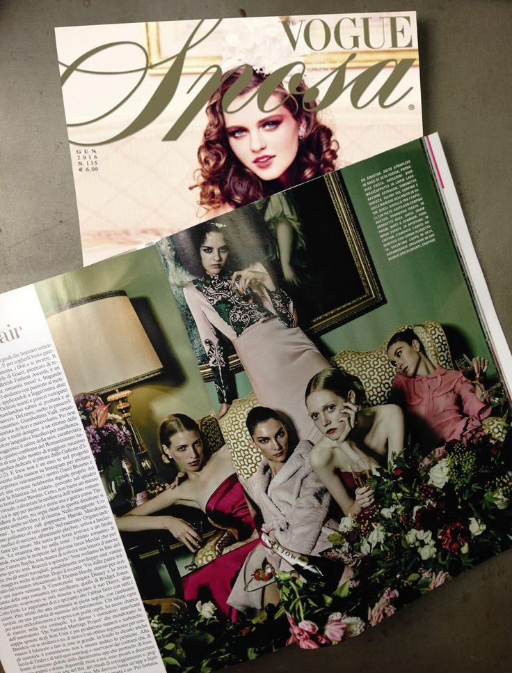 MADA's flower arrangement in Vogue Sposa Italia