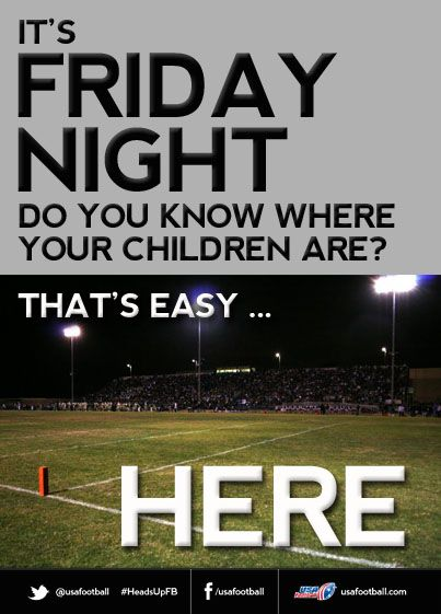 Re-pin if you spend your Friday nights at the football field!