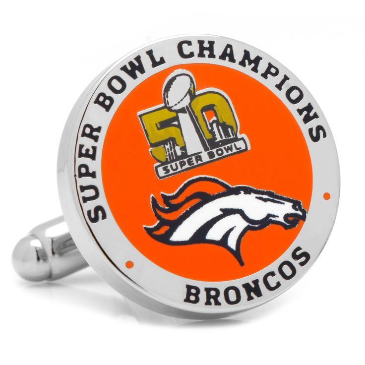 2016 Denver Broncos Super Bowl Champions Cufflinks