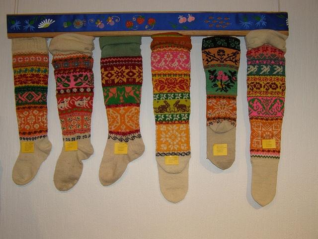 Muhu sukad-sokid / Folk socks and stockings, island Muhu by pitsimeister, via Flickr