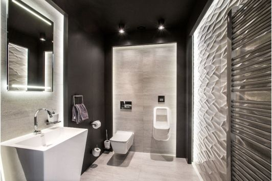 Modern Luxury His and Her Bathroom