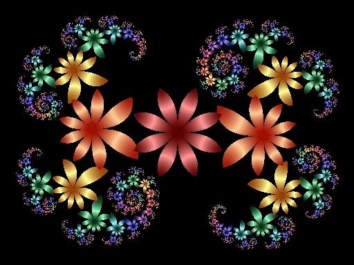 Flower Fractal by grjenkin - using Mindboggling Fractals software.
