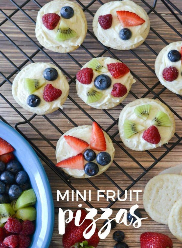 awesome Mini Fruit Pizzas