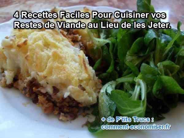 4 Recettes Faciles Pour Cuisiner vos Restes de Viande au Lieu de les Jeter.