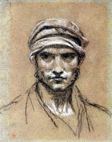 Head of a man with Turban - Prud'hon
