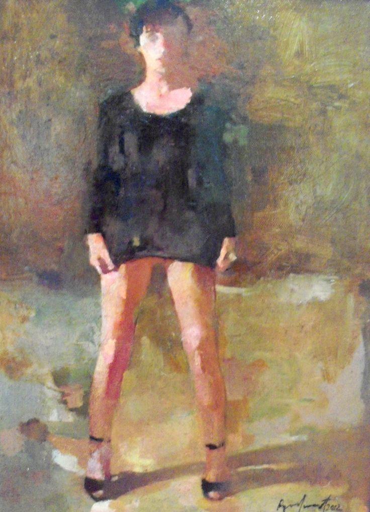 Nude painting, Oil on canvas. Ryno Swart. Artisan Gallery, 031 312 4364. info@artisan.co.za.