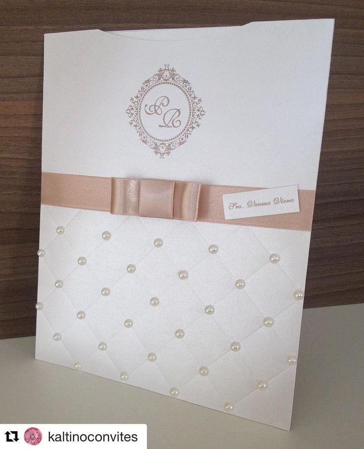 Convite em Papel Perolado Aspen 18 x 23 cm  Acompanha Laço, tag com nome do convidado, de confirmação de presença e de lista de presente e também saco protetor