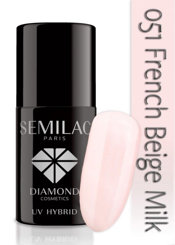 acne skin: Francuski manicure hybrydowy Semilac 001 i 051