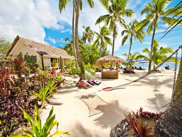 Manuia Beach Resort - Located right on the beachfront of the  sunset coast of Rarotonga.  A full service boutique resort offering a range of Polynesian inspired suites set amounts tropical gardens.  Check out our Island Adventure package featuring Manuia Beach Resort!