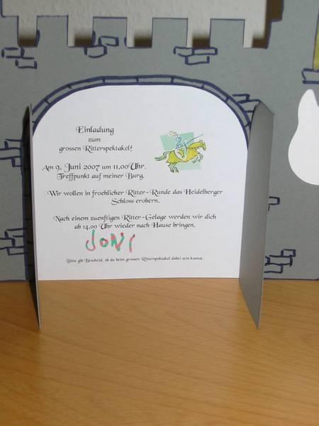 Bildergebnis Für Einladungskarte Geburtstag Ritter Basteln