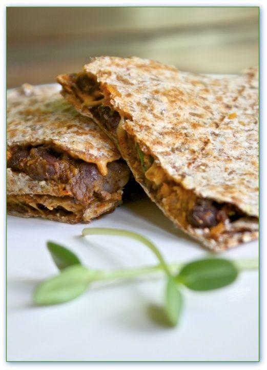 Helyn's Healthy Kitchen: Sweet Potato Black Bean Quesadillas