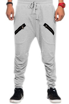 Heather Gray Twin Zipper Streetwear Sweatpants at Threader® Streetwear, Hip Hop Clothing, and Urban Clothing