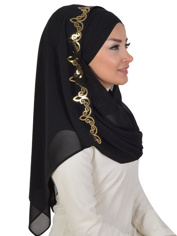 Chiffon Express Hijab Code:CPS-0022 Muslim Women by HAZIRTURBAN