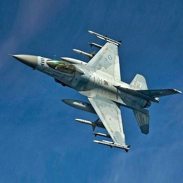 Hellenic Air Force F-16 Fighting Falcon #airforce #military #aircraft #aviation…