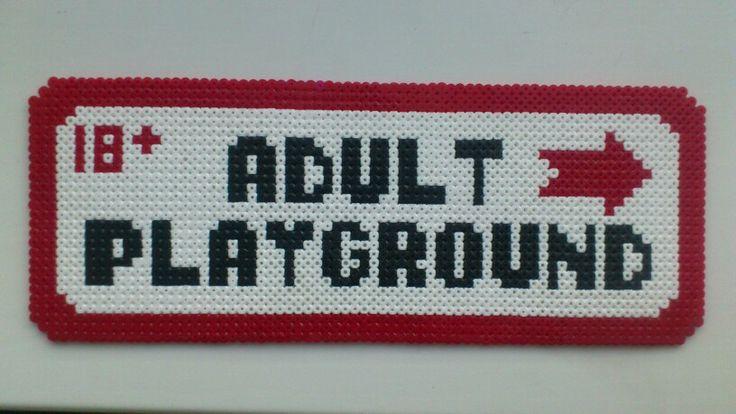 Adult Playground Sign