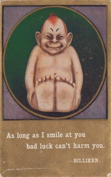 """""""The Billiken"""", a curious good luck charm that was all the rage in the early years of the 20th Century."""