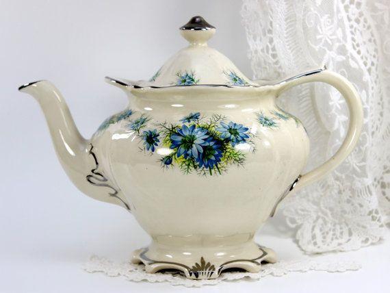 Elegant Sadler Teapot Vintage Tea Pot  England by TheVintageTeacup                                                                                                                                                                                 More