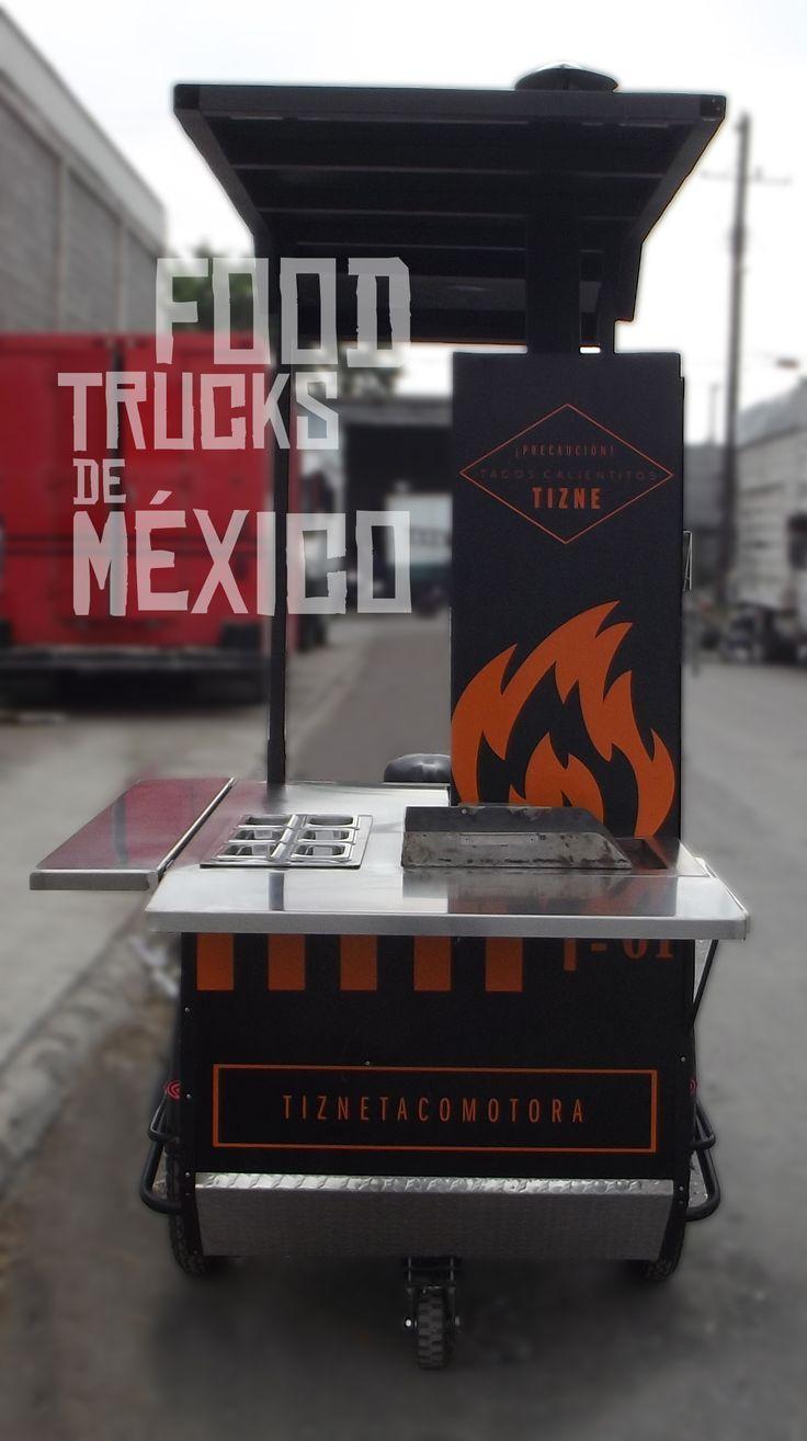 Caja en aluminio negro con vistas en aluminio antiderrapante. El Tizne. Food Trucks de México.