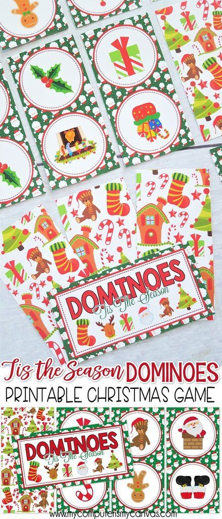 DOMINOES Game {Tis the Season Edition} PRINTABLE | My Computer is My Canvas