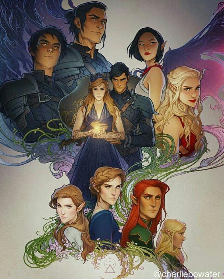 Azriel, Cassian, Amren, Feyre, Rhysand, Mor, Nesta, Elain, Lucien and Tamlin ❤ by Charlie Bowater