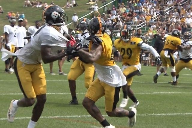 Steelers WR Martavis Bryant Makes Nasty Catch Despite Holding in Training Camp | Bleacher Report
