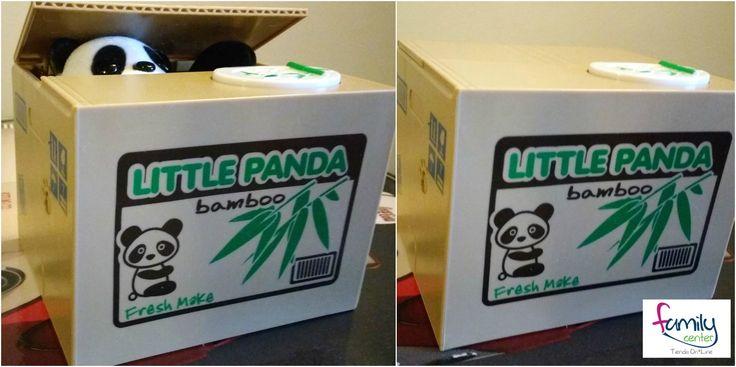 Un regalo diferente para una persona especial. Con esta alcancía de oso panda atrapa monedas seguramente vas a sorprender.