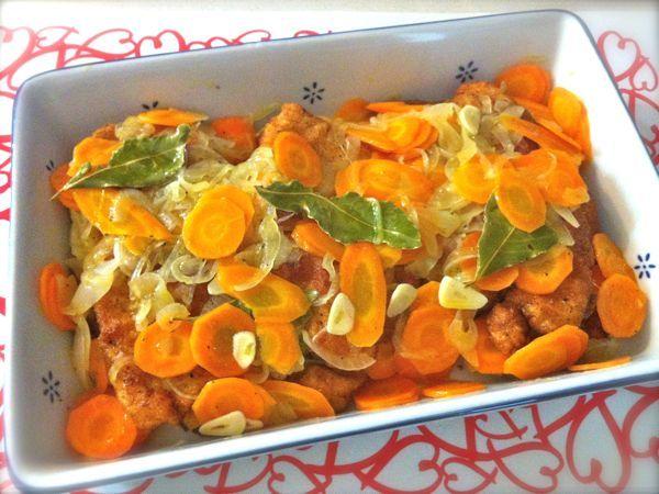 Petti di pollo in carpione - Ricette di cucina Il Cuore in Pentola