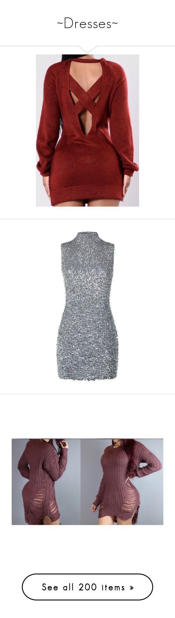 """""""~Dresses~"""" by jadab521 ❤ liked on Polyvore featuring dresses, vestidos, short dresses, short cocktail dresses, silver dresses, short sequin dress, silver sparkly dress, sequin cocktail dresses, off shoulder mini dress and sweater dress"""