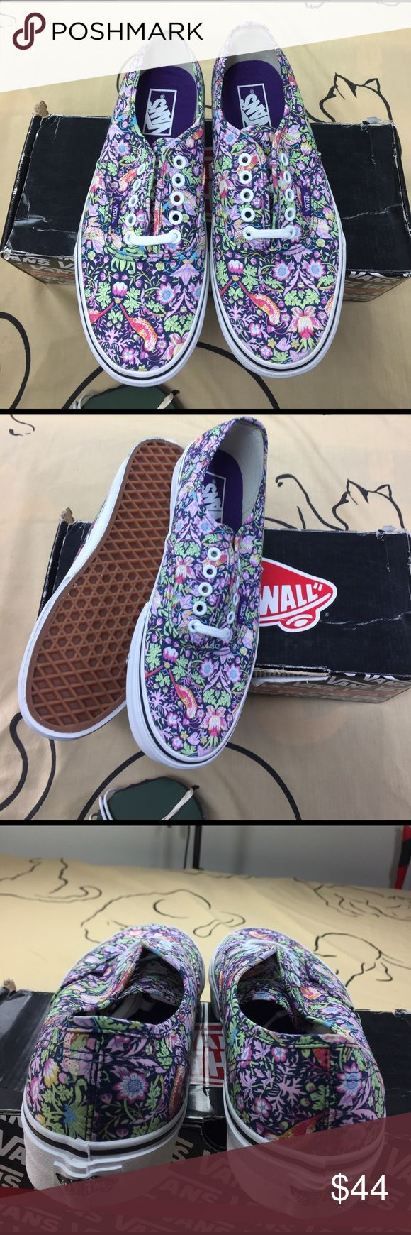 Vans Authentic Liberty Birds/navy The Authentic, the original and now iconic Vans style, features a simple low top profile, with sturdy canvas uppers, special metal eyelets, and signature waffle sole. The Authentic is a Classic and timeless silhouette everyone loves. Vans Shoes Sneakers