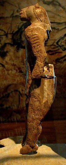 """Aurignacian - The """"Lion Man"""", found in the Hohlenstein-Stadel cave of Germany's Swabian Alb and dated at 32,000 years old, is associated with the Aurignacian culture and is the oldest known anthropomorphic animal figurine in the world"""