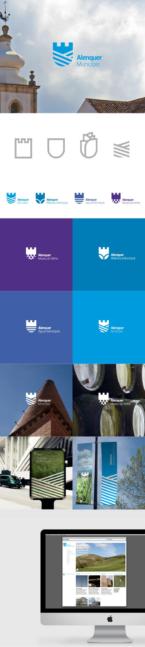 corporate identity / alenquer (I like the variations for each aspect of the corporation)