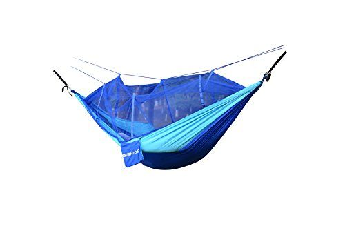 Great Camping Hammock : WoneNice Portable Nylon Fabric Travel Camping Hammock with Mosquito Net 853 x 46 ft  tree straps BlueSky BlueWoneNice Portable Nylon Fabric Travel Camping Hammock with Mosquito Net 853 x 46 ft  tree straps BlueSky Blue ** Click image to review more details. Note:It is Affiliate Link to Amazon.