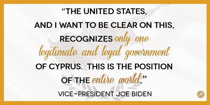There is only ONE legitimate government in Cyprus, Vice-President Biden stressed today in a landmark visit to the Republic of Cyprus.  SHARE to help spread the word about this important story.  KEEP UP TO DATE on the Vice-President's visit at our information site, The Greek Current: www.GreekCurrent.com  READ THE LATEST: http://greekcurrent.com/?p=51877
