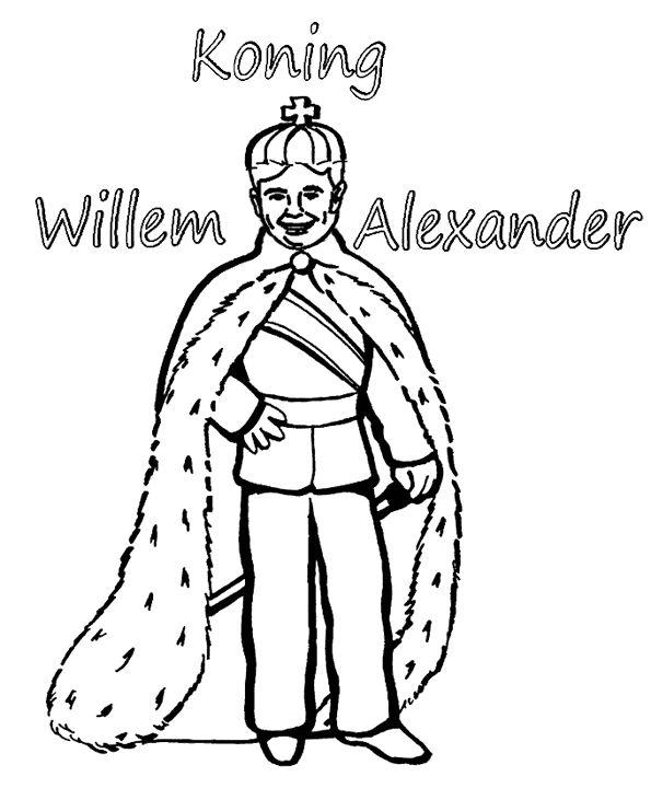 koning wilem alexander kleurplaat