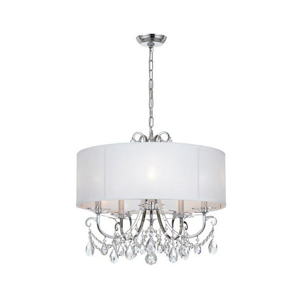 Crystorama Lighting Group Othello 24-Inch Polished Chrome Five-Light... ($650) ❤ liked on Polyvore featuring home, lighting, ceiling lights, white mini lights, princess chandelier, hanging chain lights, t5 light and white mini light