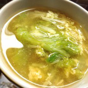 簡単☆レタスたっぷり♡えのきスープ