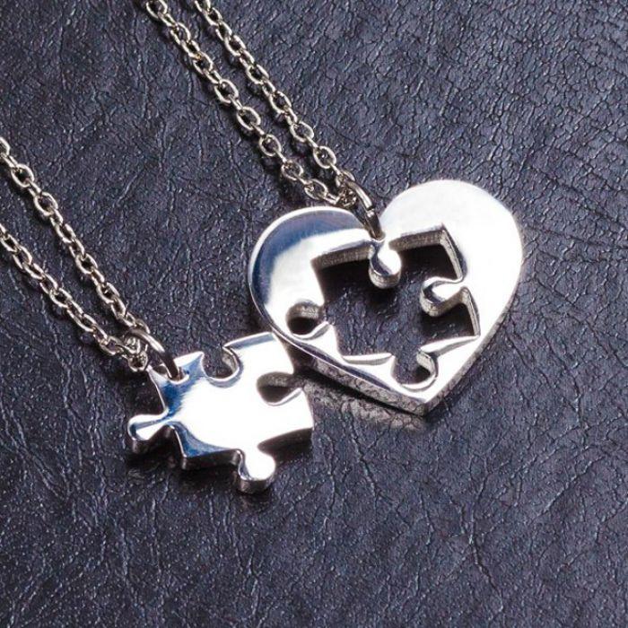 Двойные кулоны - Пазл в сердце