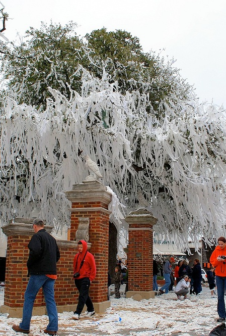 Toomer's Oaks after a victory!!!!  Auburn University  Google Image Result for http://nittanywhiteout.com/wp-content/uploads/2011/02/toomers-corner.jpg