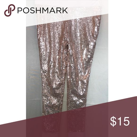 Sequin pants Pink/rose gold sequin pants Pants Track Pants & Joggers