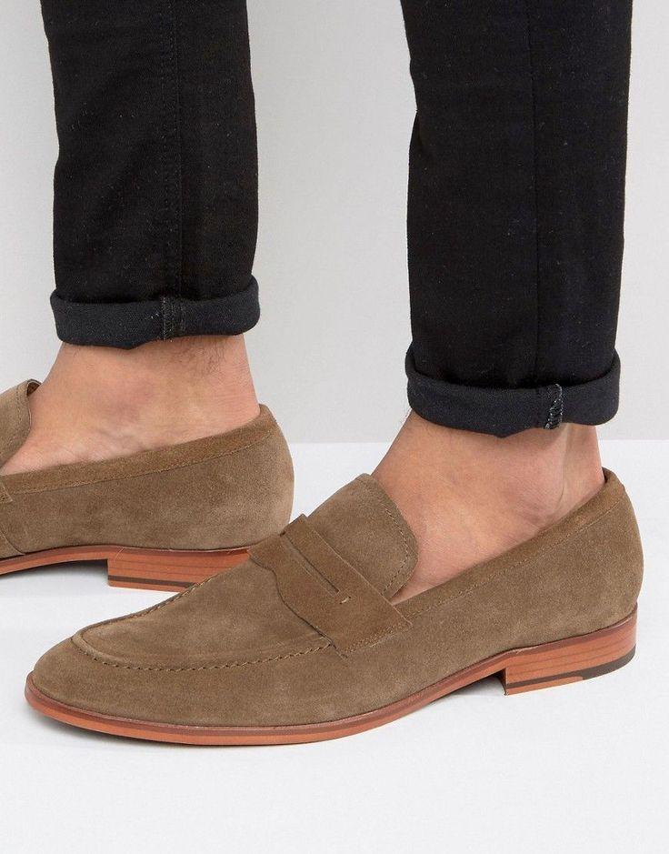 Tawny Chaussures Bateau En Cuir Brun Avec L'île De La Rivière Lacets EaeW6SHKhB