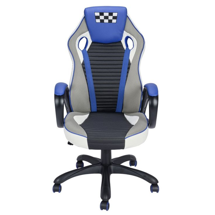 Gaming Chair Computer Desk Chair Coavas Racing Chair Office High Back PU Leather Computer Task Chair with Headrest ( Black+ red)